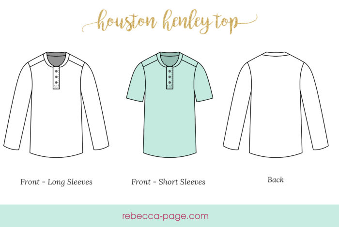 Take a step up from casual with this deliciously comfy and simple henley top sewing pattern. The perfect top for day to day wearing and/ or pjs.