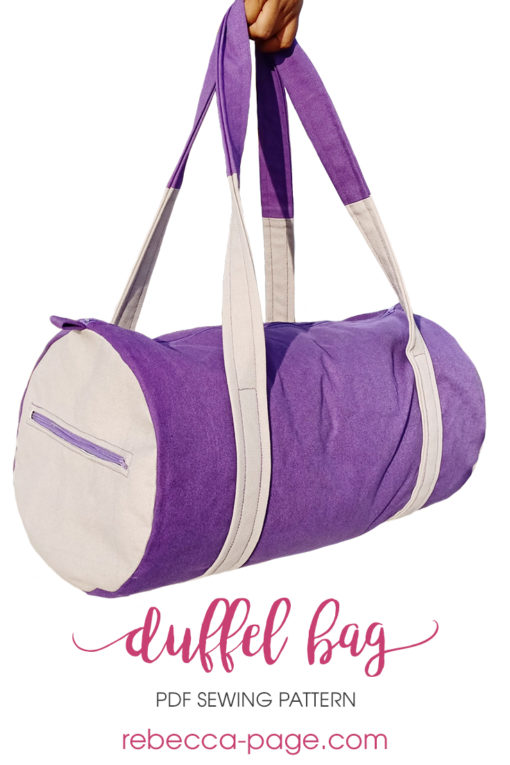 Sew yourself a Duffel Bag that's perfect for heading to the gym, a weekend away, and everything in between! It comes in two sizes: sport and weekender.