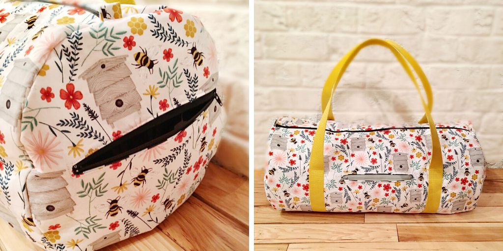 Heading to the gym or on a weekend getaway, this duffel bag sewing pattern will carry everything you need!