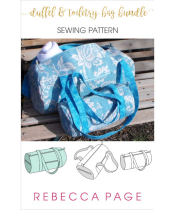 Keep all your goodies together in a fun and functional bag set. The Duffel and Toiletry bag sewing patterns are perfect for carrying everything you need.