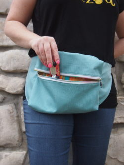 Get scrap busting and make yourself this cute and trendy accessory. The Bum Bag sewing pattern comes in two sizes and is a scrap busting delight.