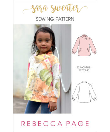 Sew yourself some cozy chic with this loose-fitting, stylish childrens sweater sewing pattern! Comes in sizes 12 months to 12 years.