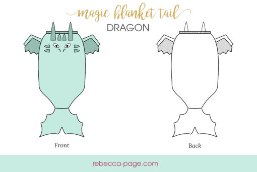 Add some snuggly magic to your life with this whimsical dragon blanket sewing pattern. Magic blanket tails for everyone, including the dolls.