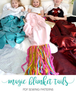 Add some snuggly magic to your life with these whimsical blanket tails sewing patterns. Magic blanket tails for everyone, including the dolls.