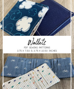 Use your scraps to sew your very own custom wallet with loads of card slots and an optional bill divider. You can make a bi- or tri-fold with these wallet sewing patterns.