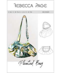 Learn how to make a unique bag with the wow factor! The Pleated Bag pattern is fully lined, has loads of options, and comes in two sizes.