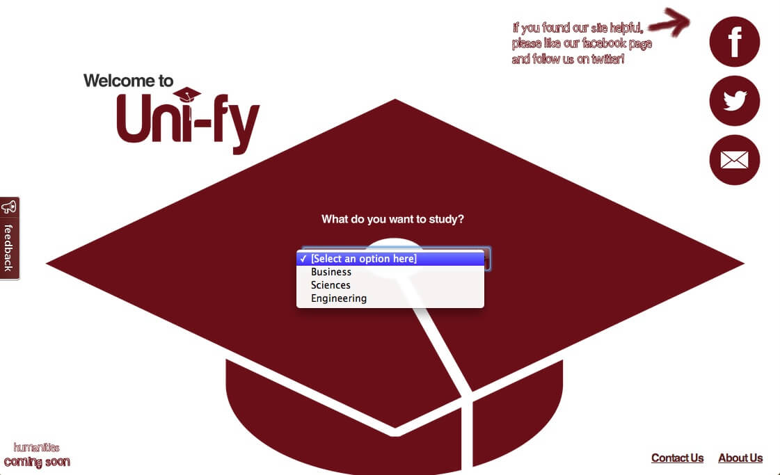 University Hunting with Uni-fy