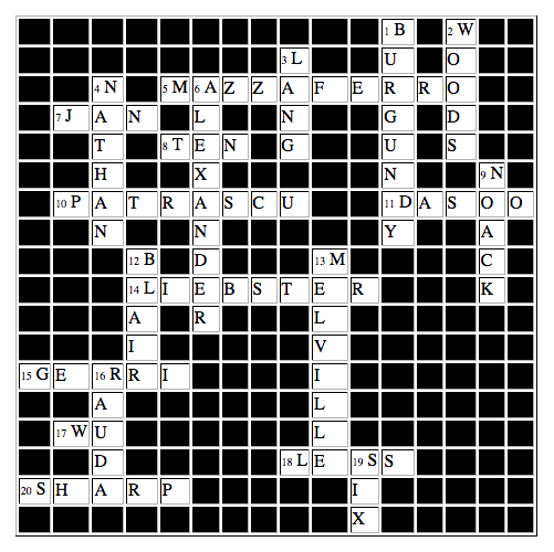 MGCI Crossword: Answers