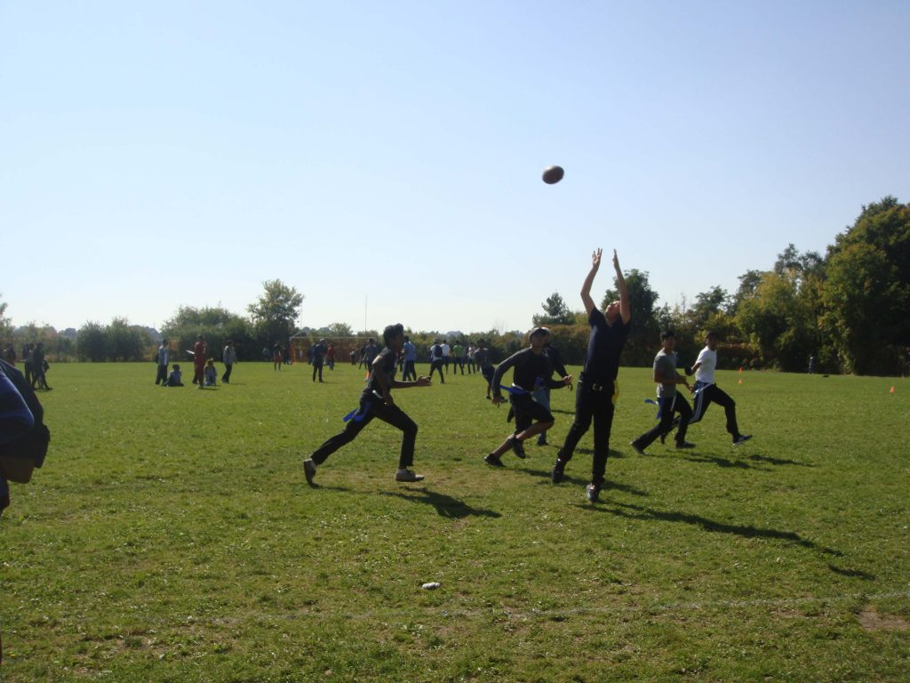 Garneau Students Play Football
