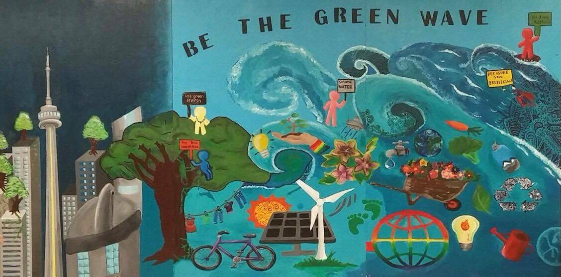The Green Wave: MGCI's New Mural