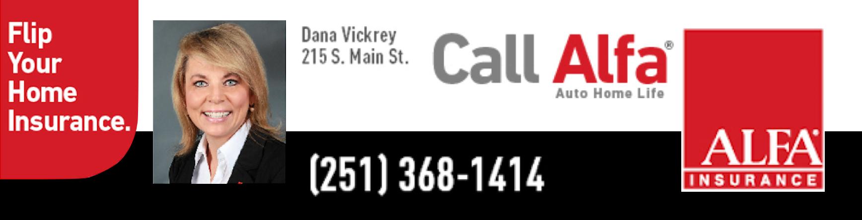 Alfa Insurance - Dana Vickrey Logo