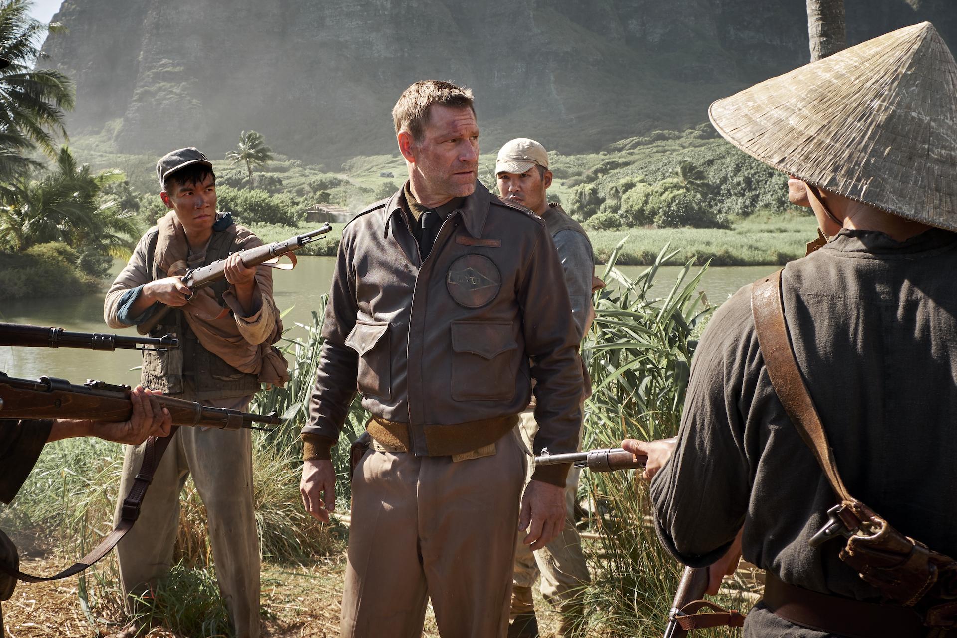 Aaron Eckhart en 'Midway: Ataque en altamar'.