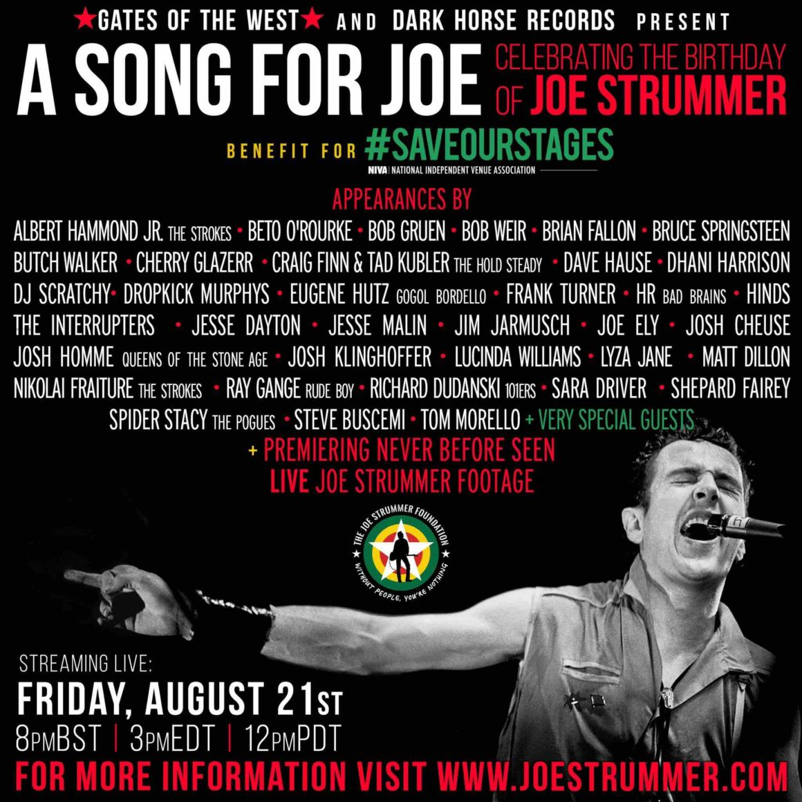Joe Strummer tribute livestream honors The Clash icon and live music