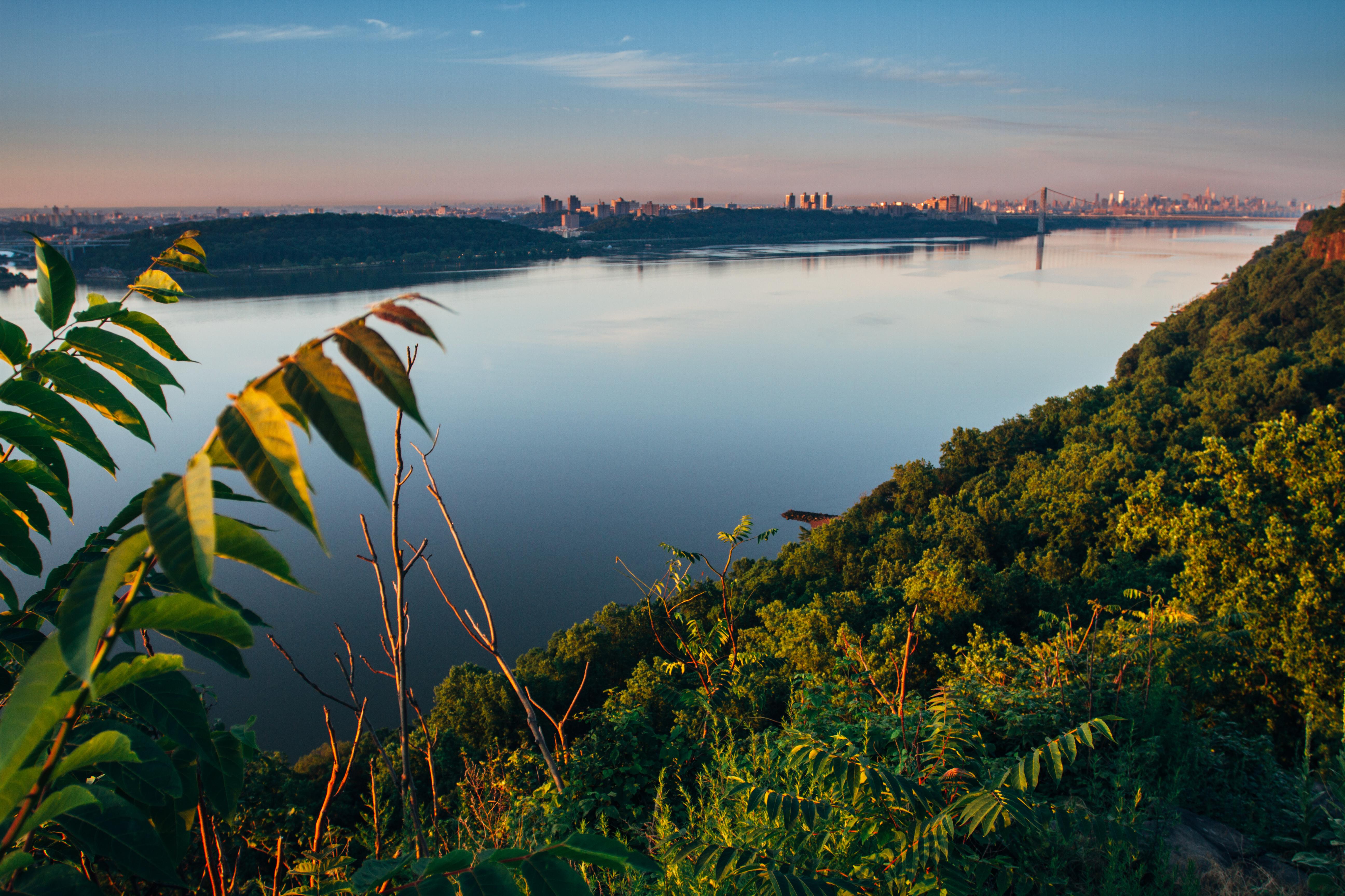 Hudson river at sunrise
