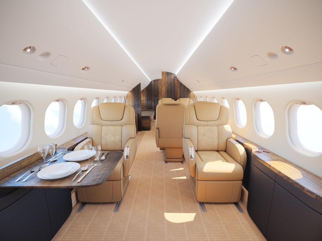Falcon 7X interior rendering