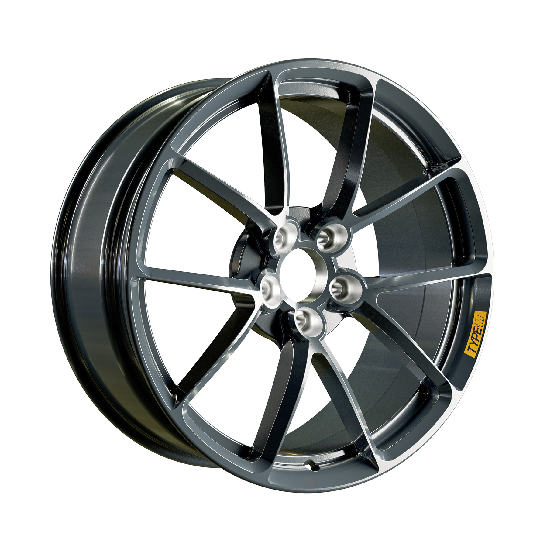 Product rendering - aftermarket performance alloy wheel