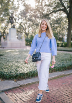 How To Style White Jeans - What to Wear in Savannah, GA | Rhyme & Reason 1