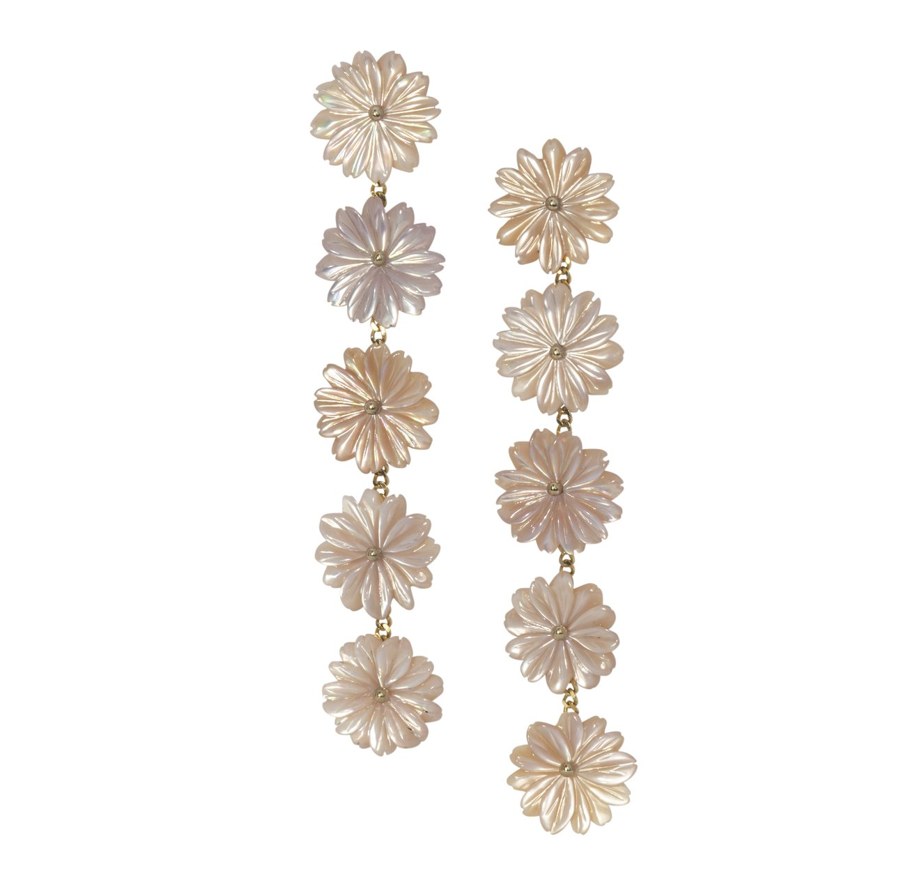My Favorite Jewelry Designers For Unique Jewelry: The Mini Collection Dock Street Flower Drop Earrings