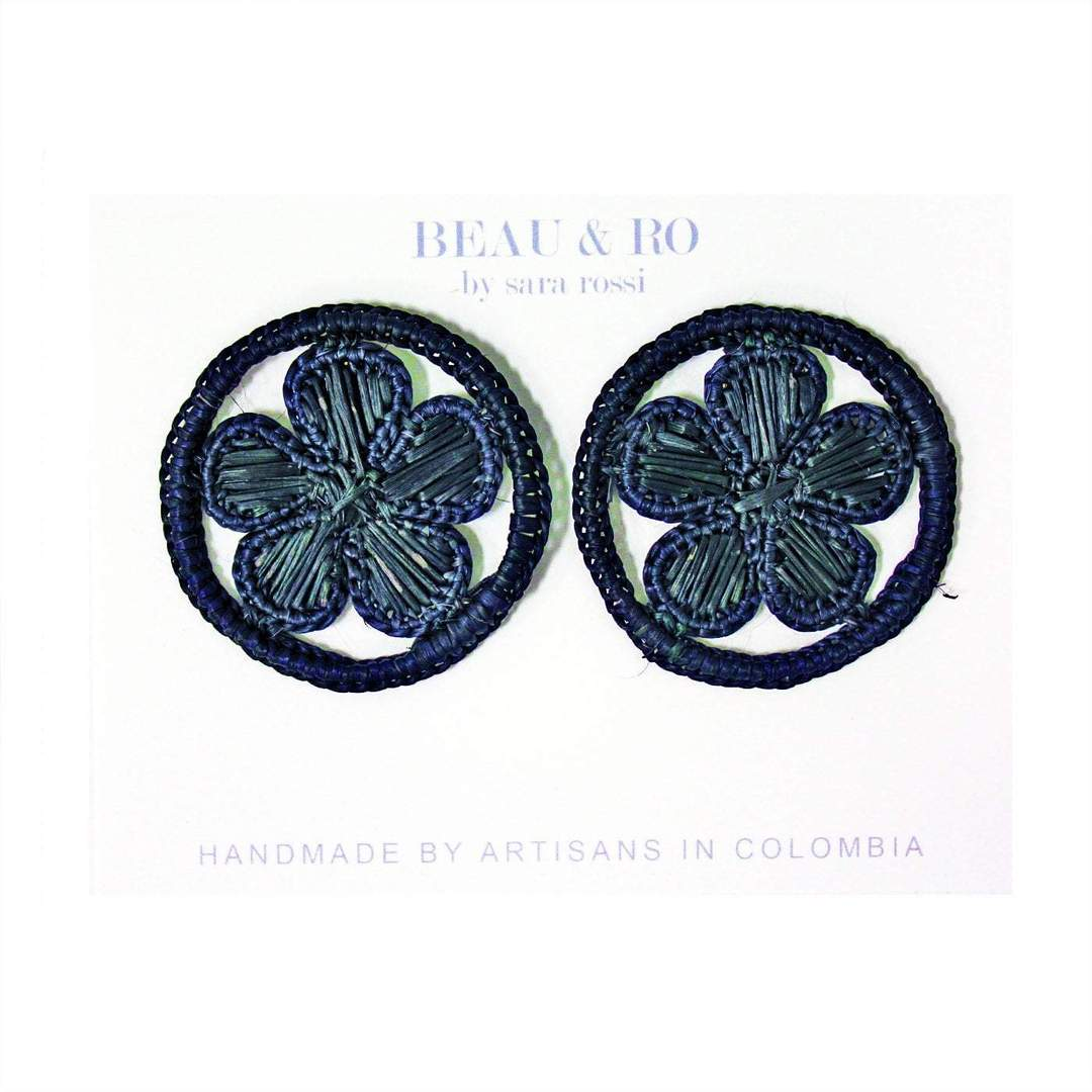 My Favorite Jewelry Designers For Unique Jewelry: Beau & Ro Round Flower Earrings