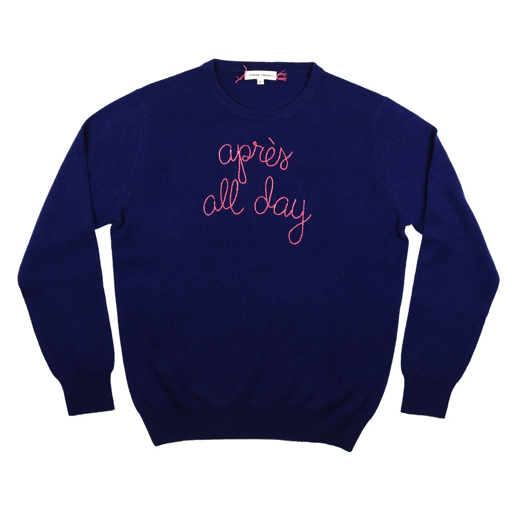 Where To Buy Unique Sweaters: Lingua Franca Apres All Day | Rhyme & Reason
