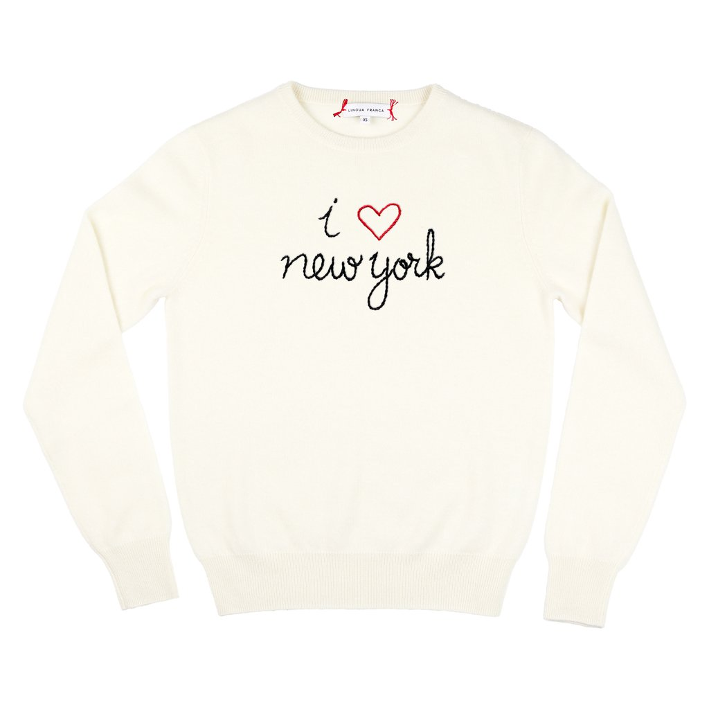 Where To Buy Unique Sweaters: Lingua Franca I Heart NY | Rhyme & Reason