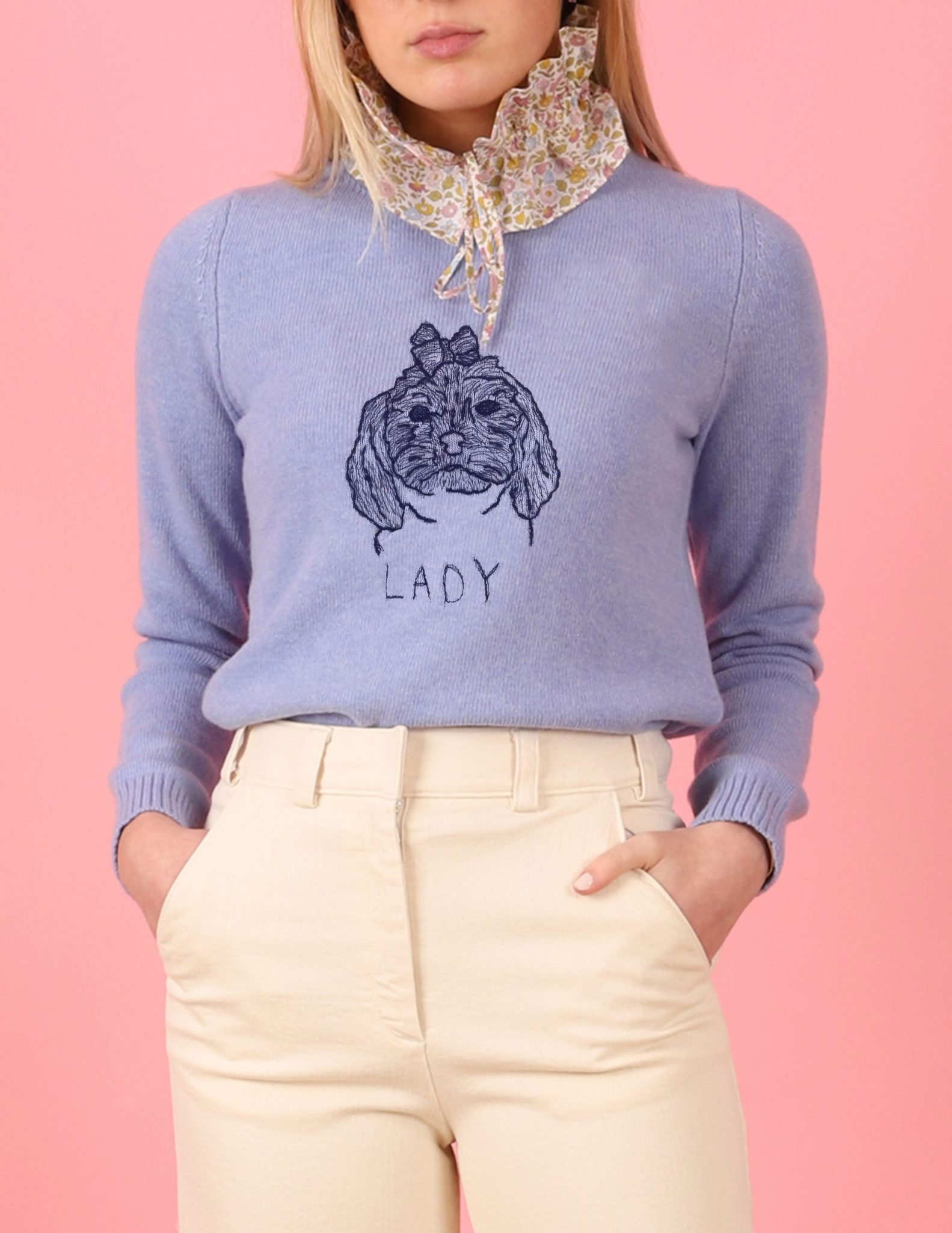 Where To Buy Unique Sweaters: Le Lion Spring Petite Crew with Pet | Rhyme & Reason