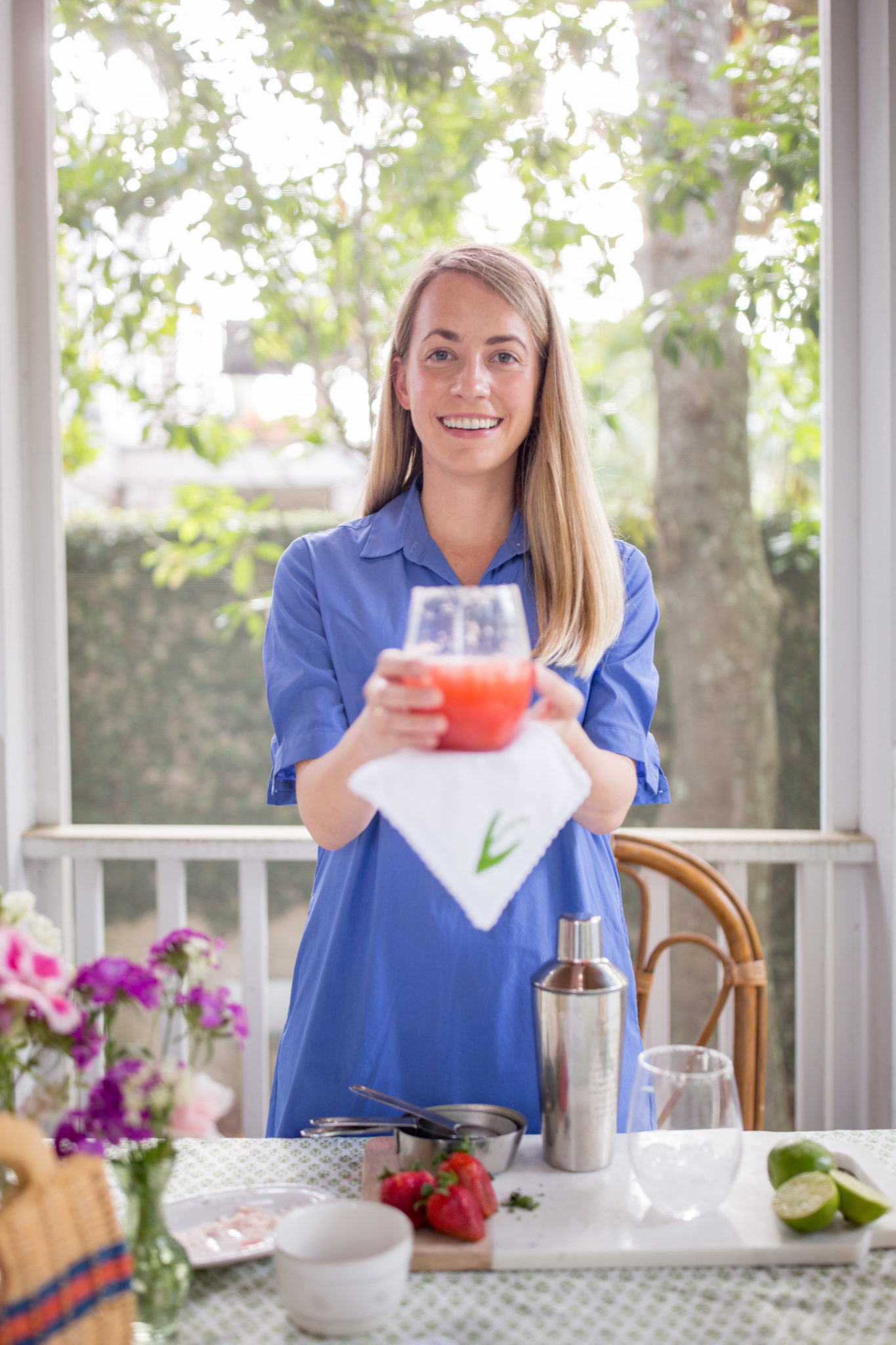 How to Mix the Perfect Strawberry Basil Margaritas with J.McLaughlin | Rhyme & Reason