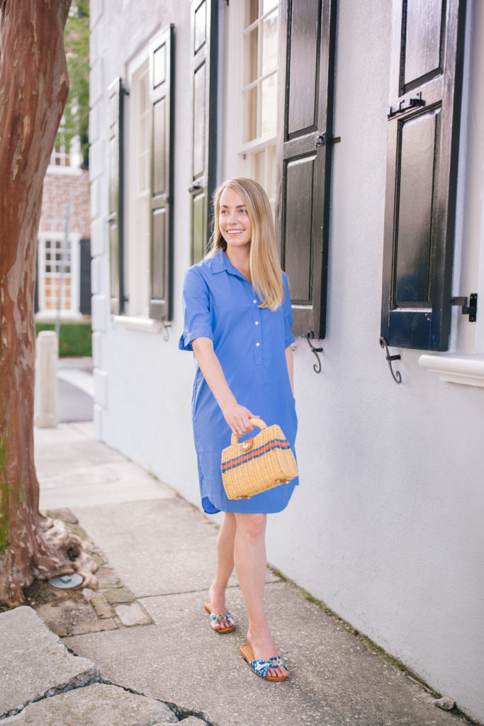 Jillian Eversole steps out in J.McLaughlin spring pieces while taking a neighborhood walk | Rhyme & Reason