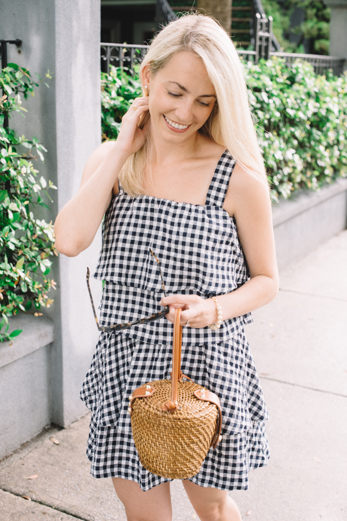 How To Wear A Gingham Dress- Neutral Gingham Prints   Rhyme & Reason