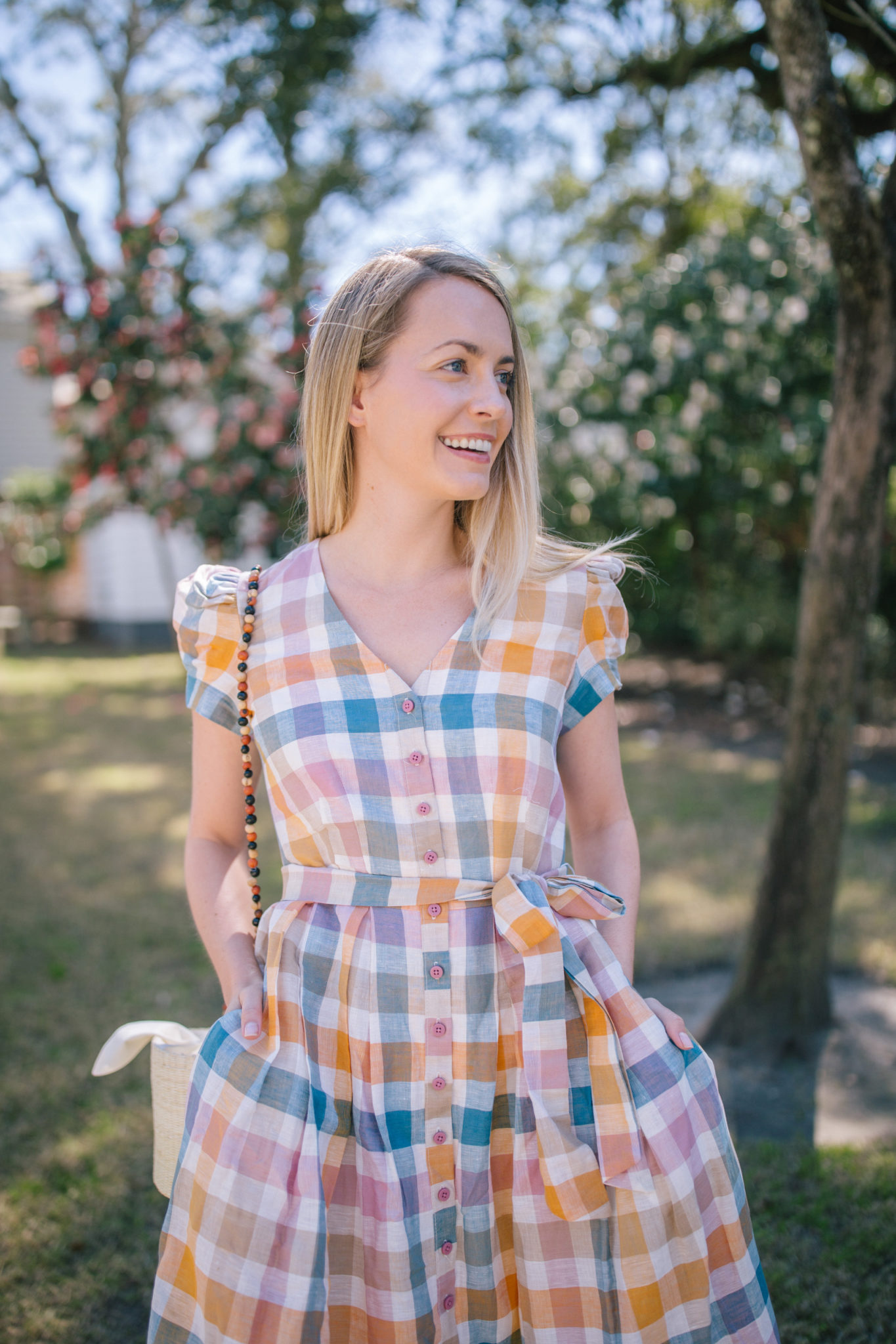 How To Wear A Gingham Dress- Gingham Puff Sleve Dresses   Rhyme & Reason