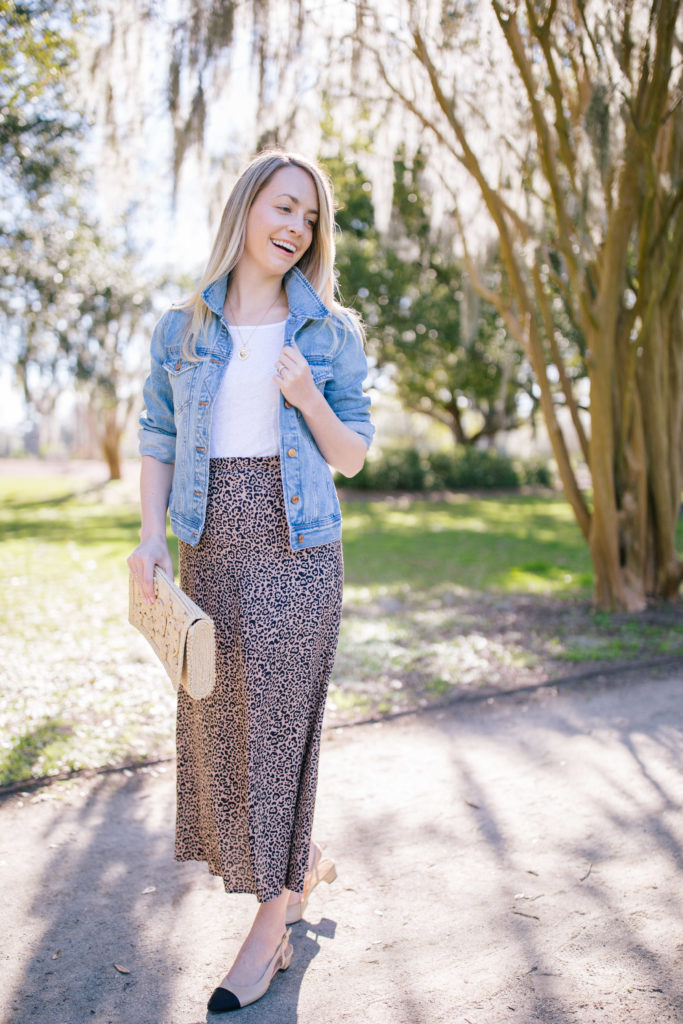 How to style leopard print with denim | Rhyme & Reason