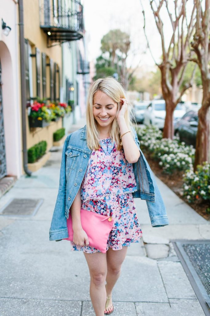 How to wear a denim jacket with rompers | Rhyme & Reason