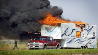 Fire in a rv