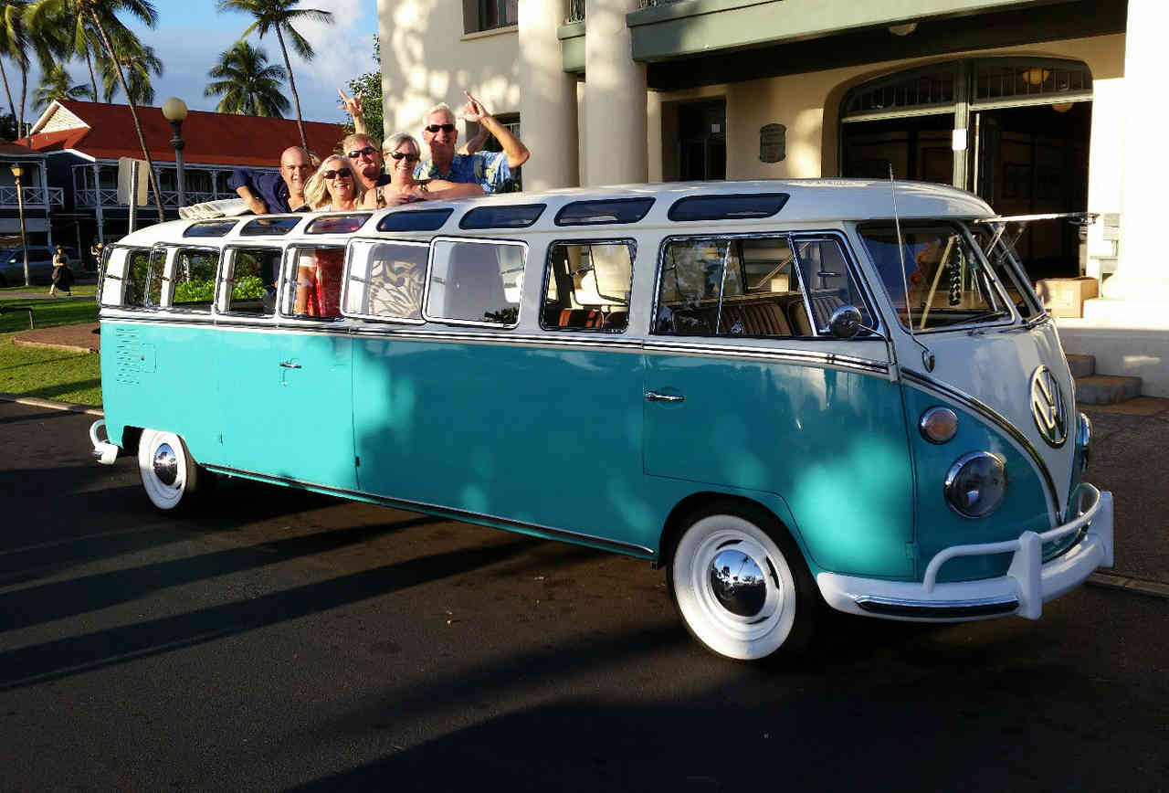 check out this retro volkswagen bus limo! - rvshare