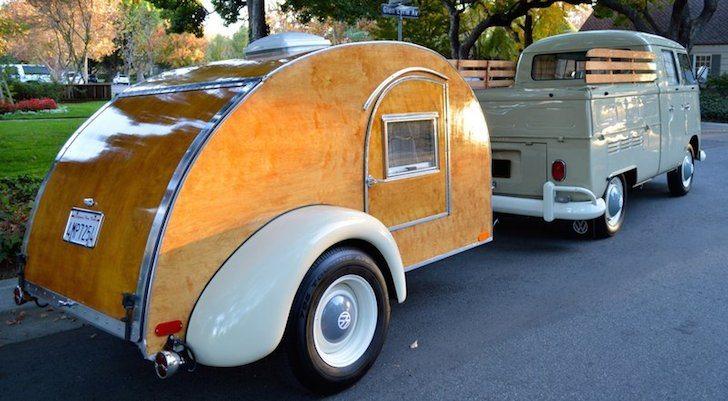 A Uniquely Modern 1940s Style Teardrop Camper