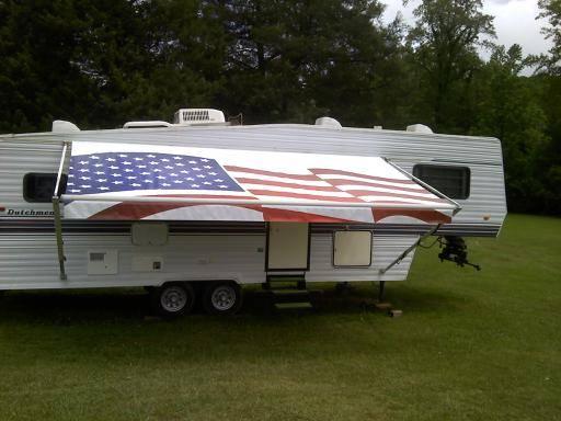 american wave flag custom awning rvshare com