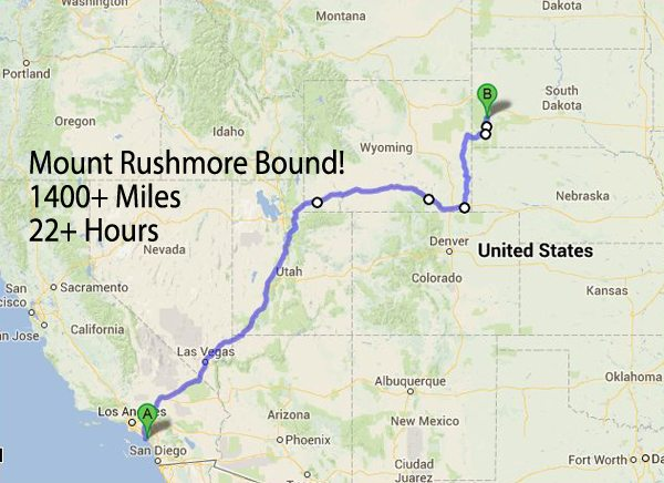 Map To Mount Rushmore Rvsharecom - Mount-rushmore-on-us-map