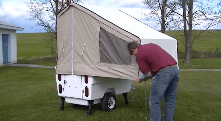 Kompact Kamp Has An Awesome Motorcycle Trailer That Is