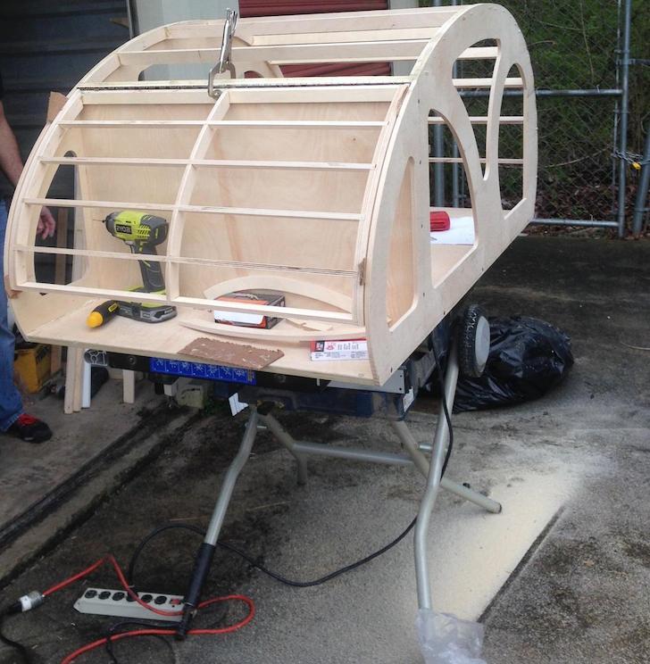 Beginning Of A Teardrop Trailer Build For A Dog Rvshare Com