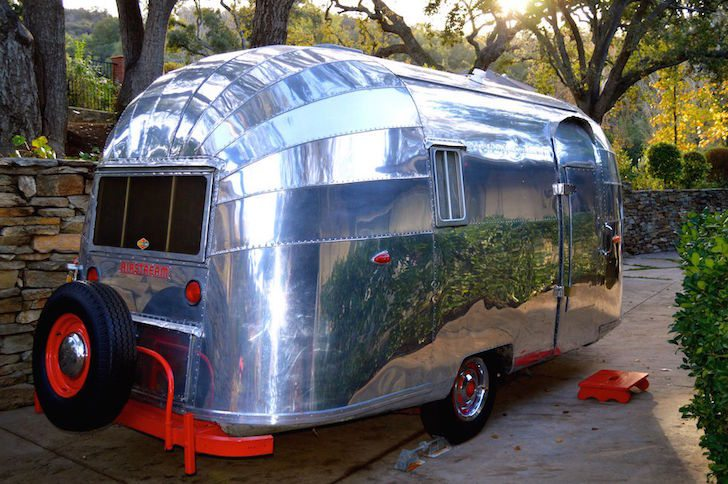 Vintage Shiny Amp Cool A 1957 Airstream Wanderer