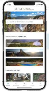 recreation.gov mobile app