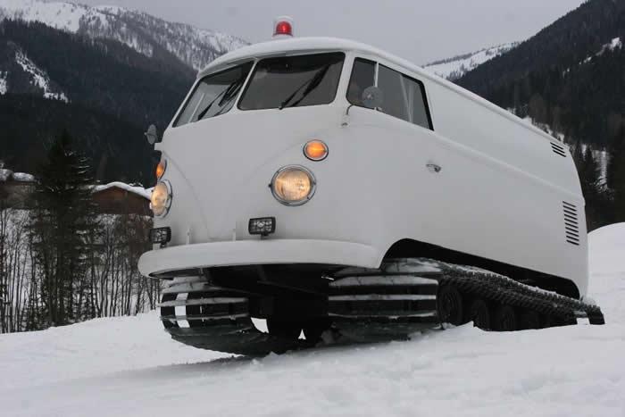 vw campervan performs   snow rvsharecom