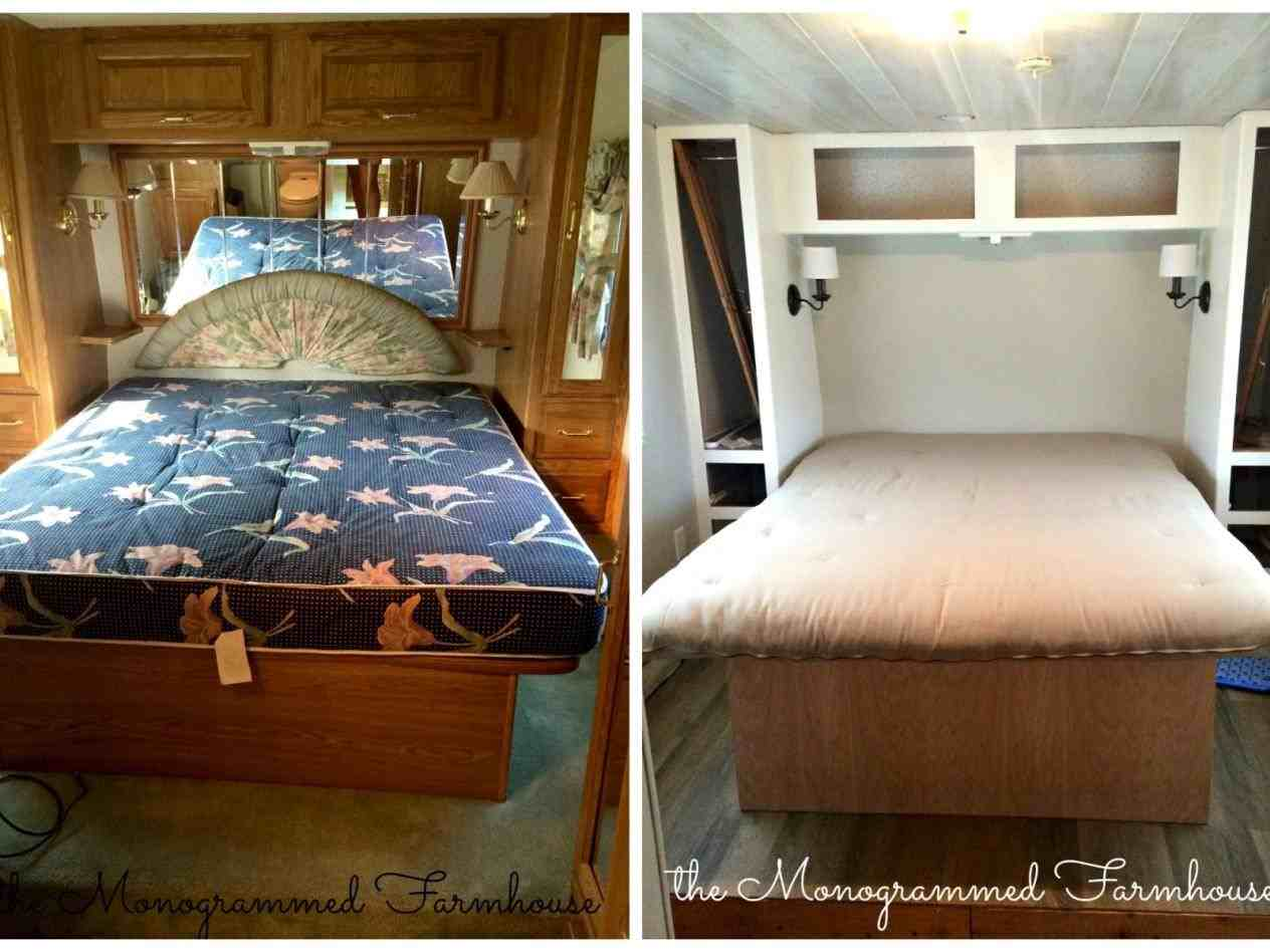 Rhcom Truck Camper Renovation Before And After Trailer Remodel Insta Sara Amazing Rv Travel Remodels You