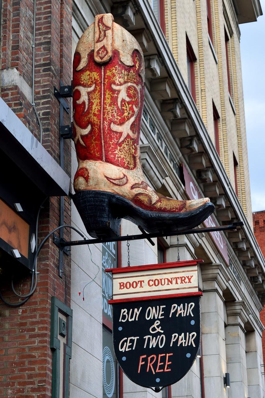 Giant boot in Nashville