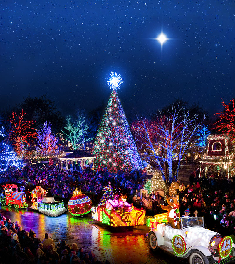 Silver Dollar City Christmas Lights 2020 The Best Road Trips for Checking out Christmas Lights   RVshare.com