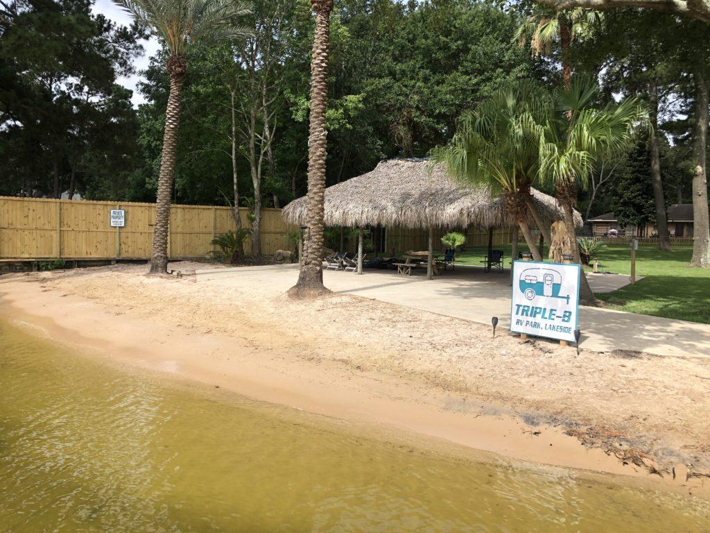 Triple-B RV Parks beach and cabana