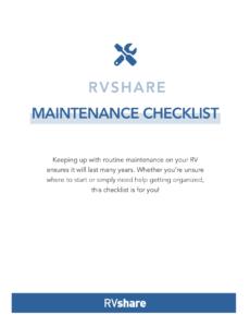 RVshare Maintenance Checklist