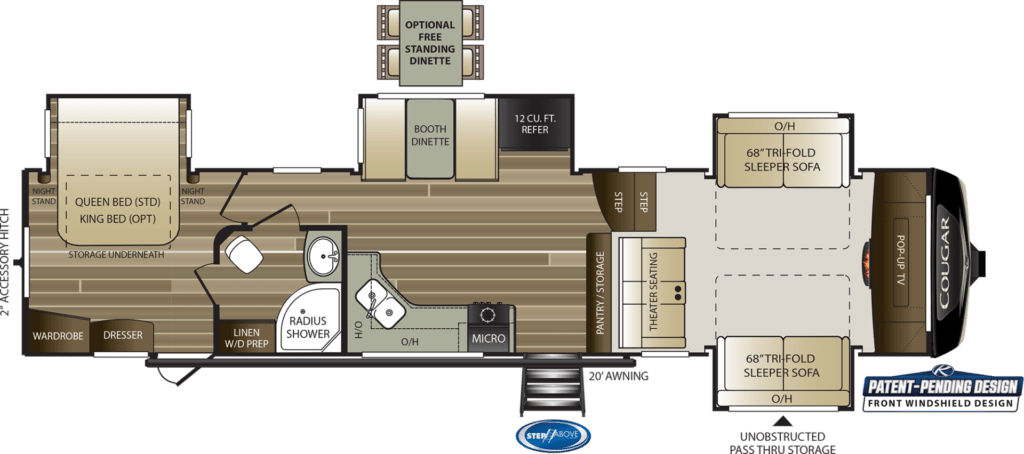 Front Living Room Fifth Wheel from Keystone