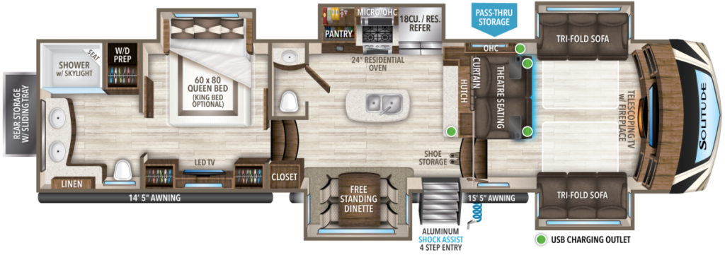 Fifth Wheel With Front Living from Grand Design