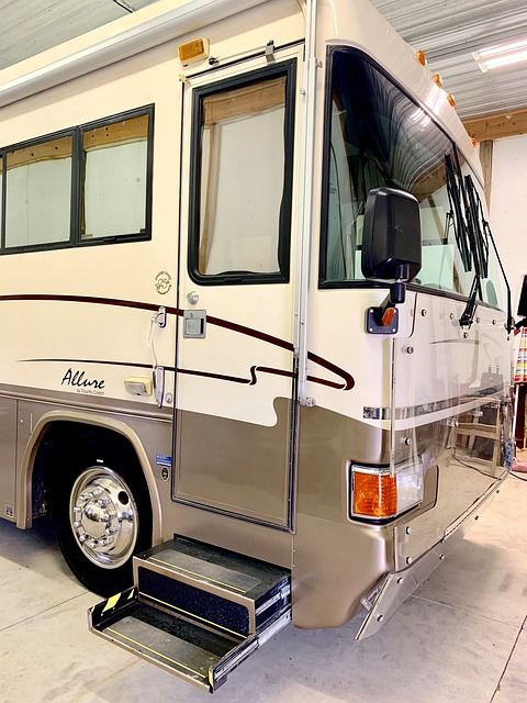 RV front with steps